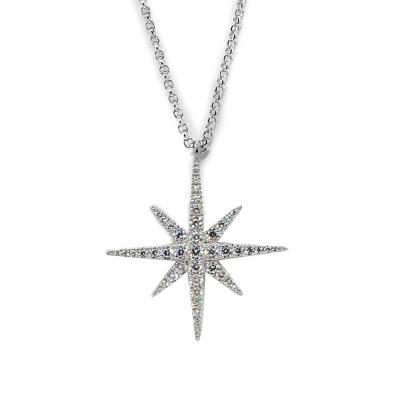 apm MONACO法國精品珠寶 閃耀銀色繁星鑲鋯可調整長項鍊