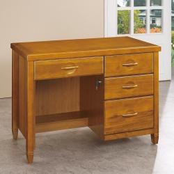 愛比家具 森杰3.5尺柚木色書桌/辦公桌