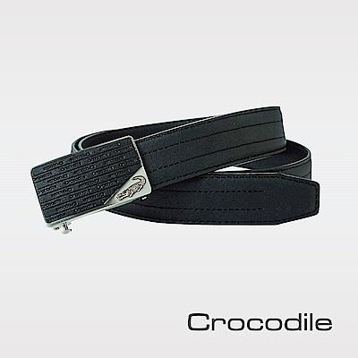 Crocodile 紳士義大利荔紋自動穿扣皮帶 0101-20101