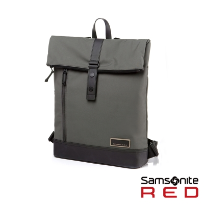 Samsonite-RED-GLEHN休閒折疊翻蓋筆電後背包12-5吋-卡其綠