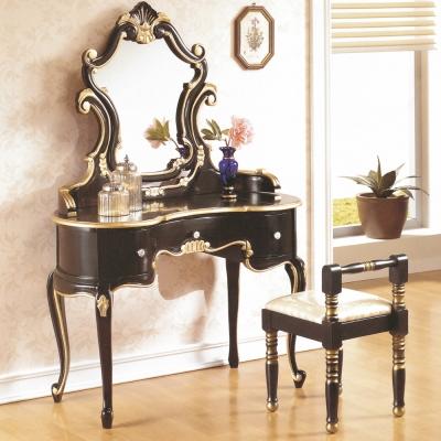 AT HOME-帝國法式黑金色化菪x(含椅)