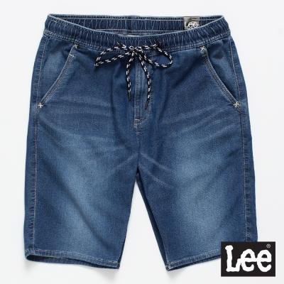 Lee 牛仔短褲 運動休閒牛仔短褲/UR-男款-深藍