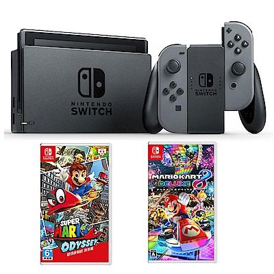任天堂 Nintendo Switch 灰色Joy-Con 台灣公司機瑪利歐超值組