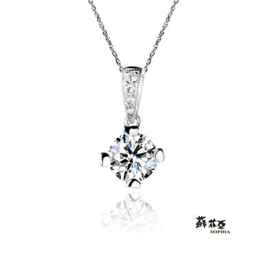 蘇菲亞SOPHIA 鑽石項鍊-薔薇0.30克拉ESI鑽鍊