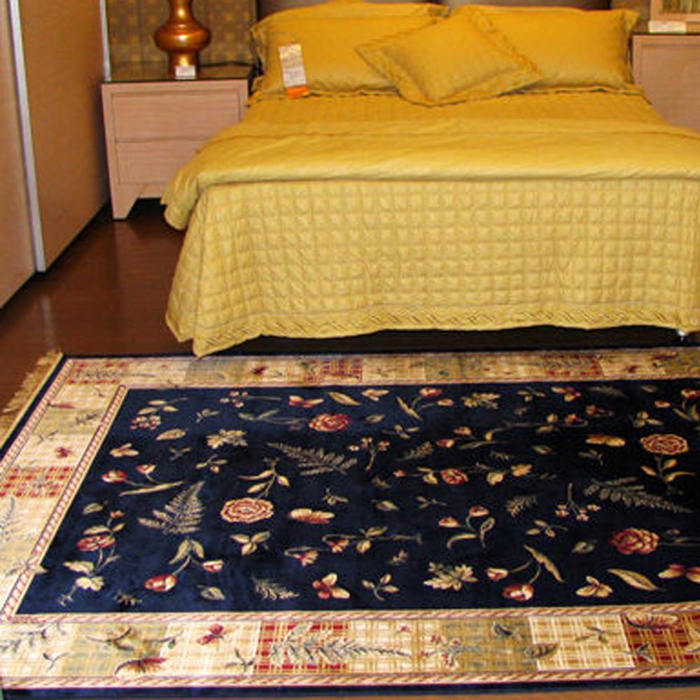 【范登伯格】芭比佳人☆-童話故事滑順絲質感地毯(藍款)160x230cm