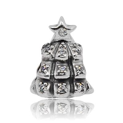 Pandora 潘朵拉 聖誕樹鑲鋯造型 純銀墜飾 串珠