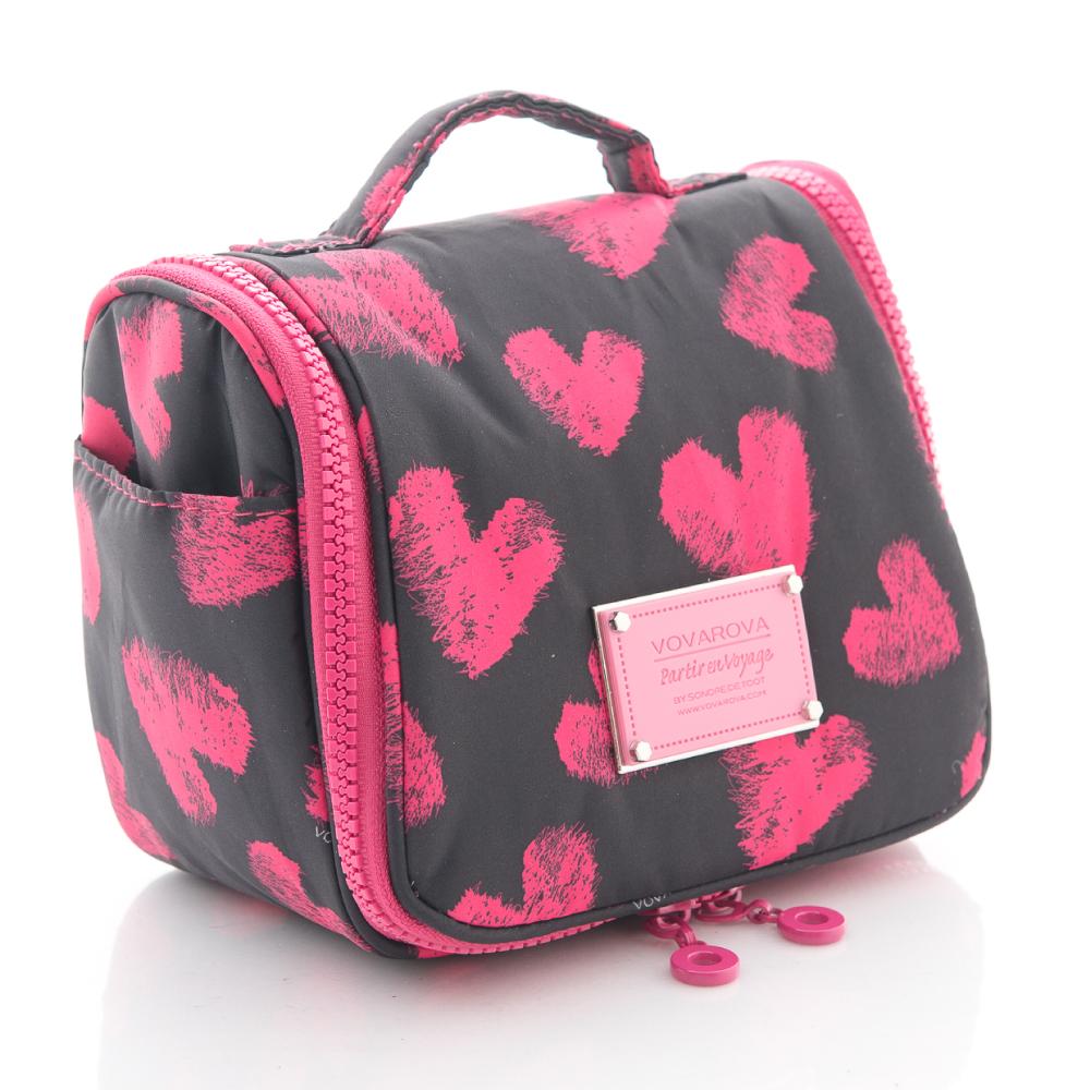 VOVAROVA空氣包-浪漫系列-甜蜜愛心(黑)-旅行盥洗包