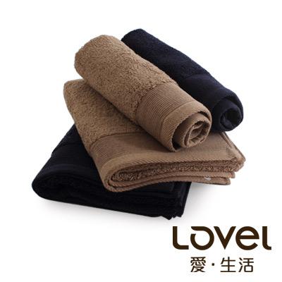 Lovel 經典御用級素色加厚純棉毛巾/方巾2件組(共6色)