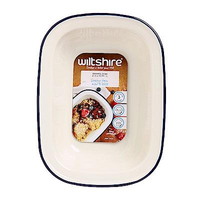澳洲 WILTSHIRE 手工方形烤盤1000ML-藍