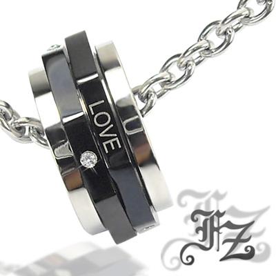 【FZ】典藏光輪白鋼項鍊(黑)