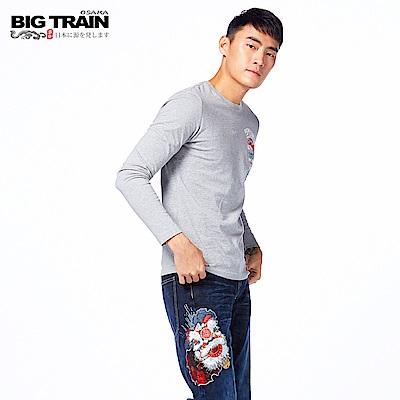 BIG TRAIN 祥獅直筒褲-男-深藍