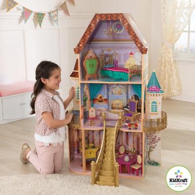 美國 KIDKRAFT 迪士尼美女與野獸娃娃屋