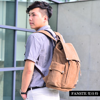 Fanste_梵仕特 帆布遊風 多功能後背包-8113