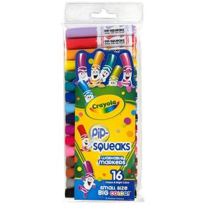 美國crayola 可水洗系列-可水洗16色短桿粗頭彩色筆(3Y+)