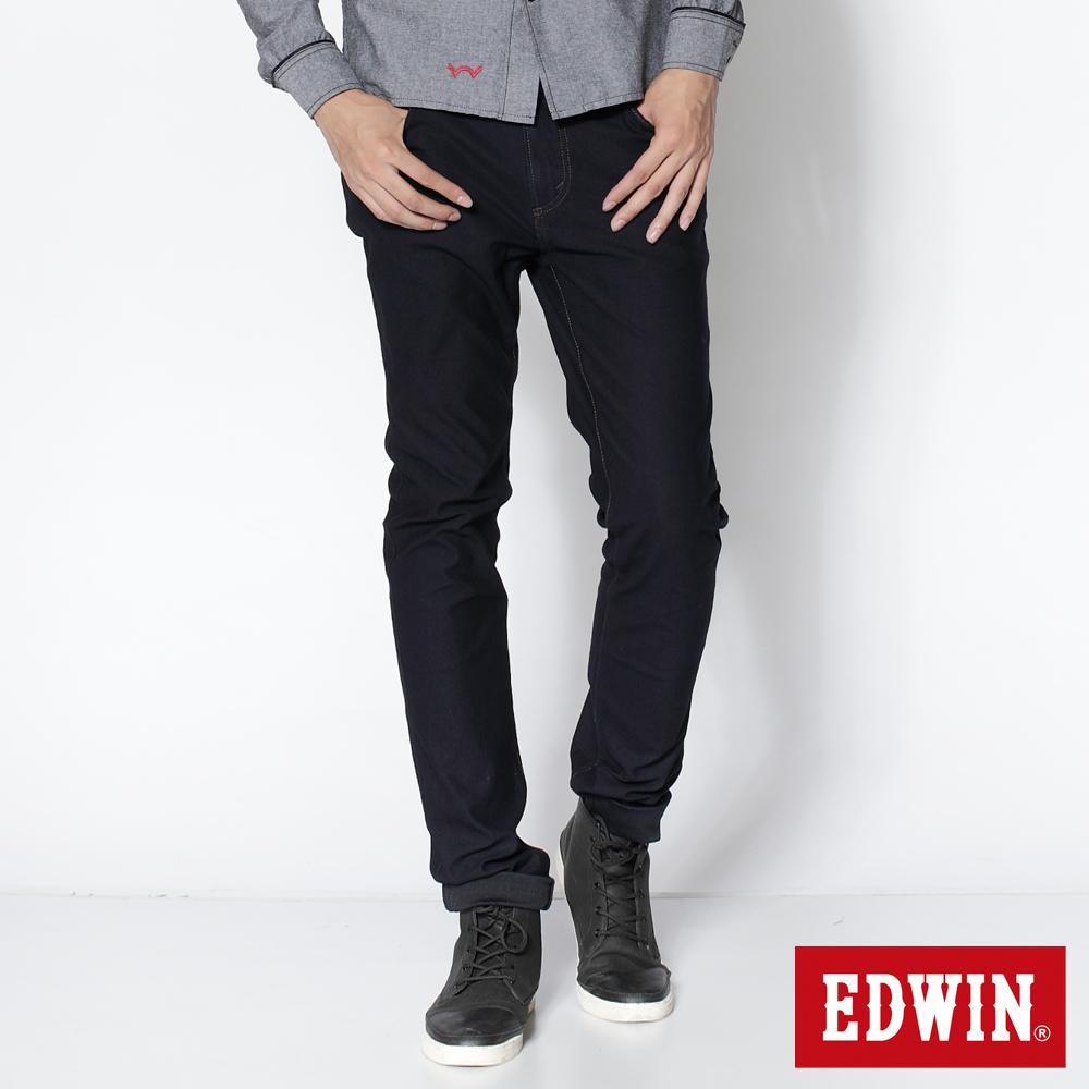 EDWIN 直筒褲 迦績褲JERSEYS圓織牛仔褲-男-原藍色