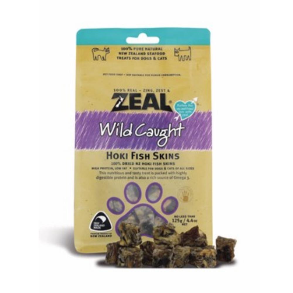 岦歐ZEAL 紐西蘭天然寵物食品《福氣魚皮》125g 兩包組