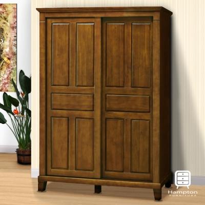 漢妮Hampton蘭卡系列黃檀實木5x7尺衣櫃-147.4x69.7x210cm