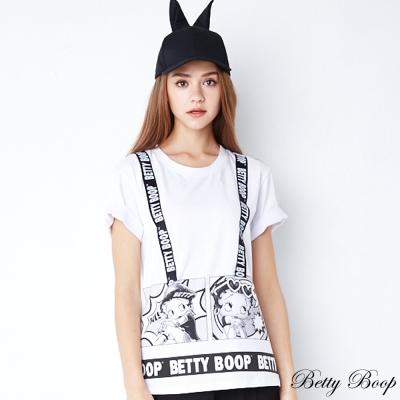 Betty Boop貝蒂 字母大圖彈性造型T恤(共二色)