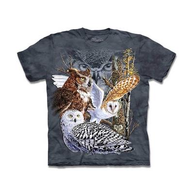 摩達客 美國進口The Mountain尋十一貓頭鷹純棉短袖T恤