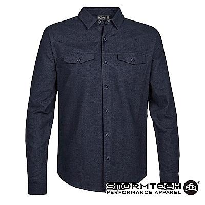【加拿大STORMTECH】SFX-2 商務紳士舒適透氣質感襯衫-男-靛藍
