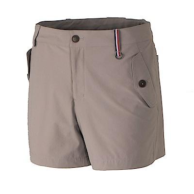 【Wildland 荒野】女RE四向彈性抗UV短褲-卡其