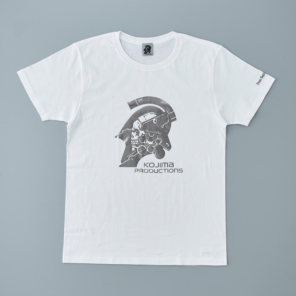 KOJIMA PRODUCTIONS LOGO T恤 白(銀色印刷)