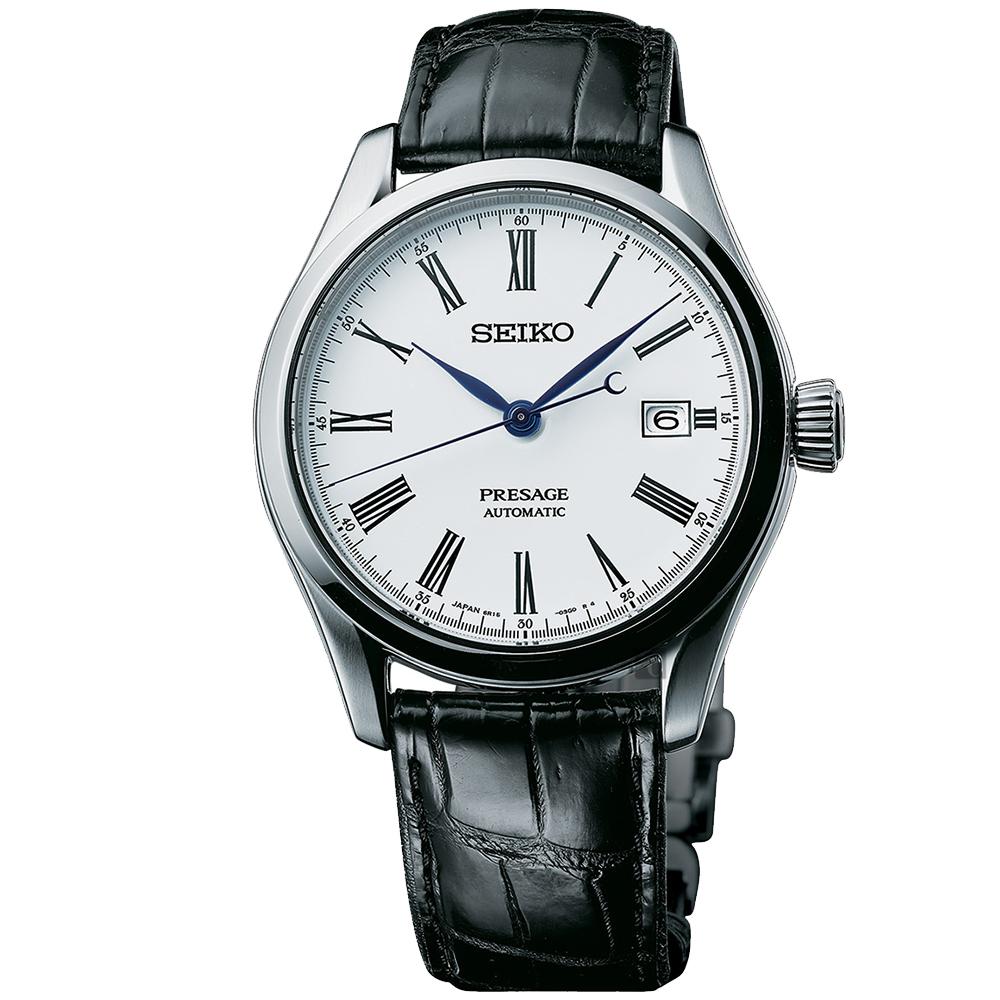 (無卡分期12期)SEIKO Presage Enamel 琺瑯機械錶(SPB047J1)