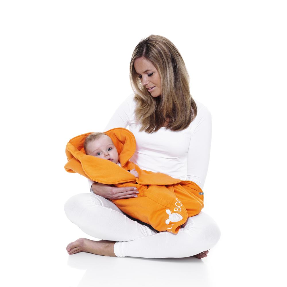 wallaboo Fleur 花辦四季嬰兒包巾被-橘
