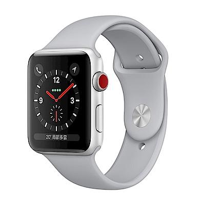 Apple Watch GPS+Cellular 42mm 銀色鋁金屬殼/霧灰運動錶帶