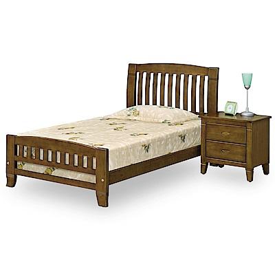 時尚屋 達爾文黃檀實木3.5尺加大單人床(不含床頭櫃-床墊)