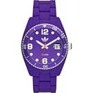 adidas Brisbane 菱格靚彩活力時尚玻麗腕錶-紫/42mm
