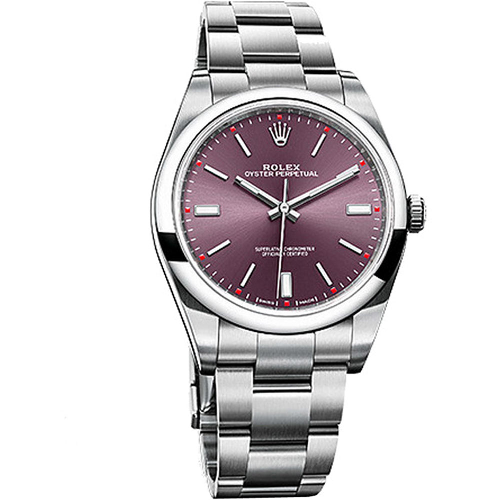 ROLEX 勞力士 114300 OYSTER Perpetual 紅葡萄色腕表-39mm product image 1