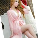 罩衫 純情美姬蕾絲和服浴衣 浪漫粉 XOXOXO