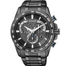 CITIZEN 鈦電波多功能計時腕錶(AS8025-57E)-全黑/43mm