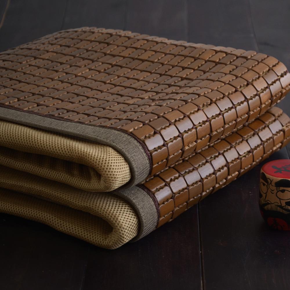 絲薇諾涼蓆 雙人5尺 深色邊 3D透氣包邊炭化專利麻將涼蓆 竹蓆