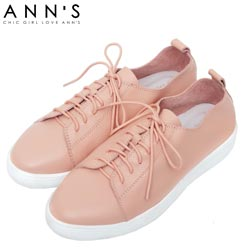 Ann'S第二代超軟真牛皮綁帶小白鞋