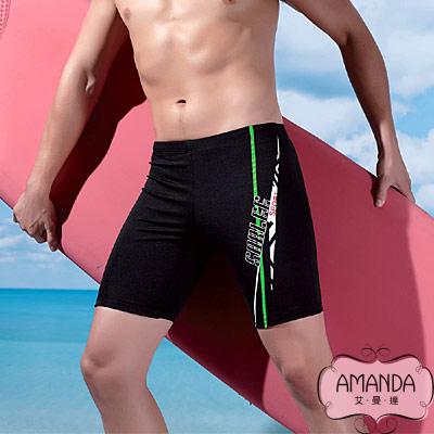 AMANDA 加大泳褲 七分平口褲- 2 EL~ 4 EL