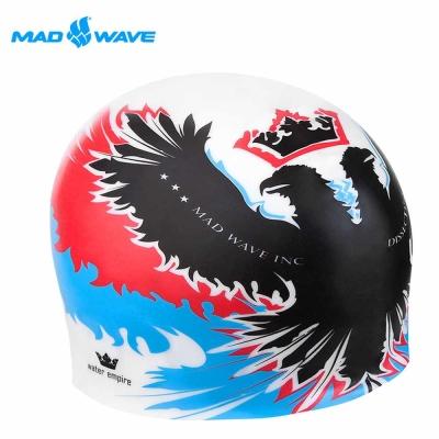 俄羅斯MADWAVE成人矽膠泳帽紅藍 EMPIRE泳帽 快速到貨