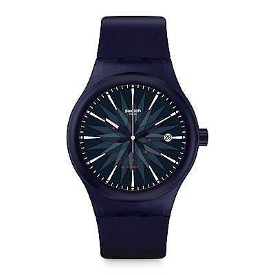 Swatch 51號星球機械錶 SISTEM INK 機械深藍手錶