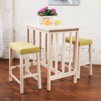 Bernice- 簡約吧檯桌椅組(四色可選)-80x60x87cm
