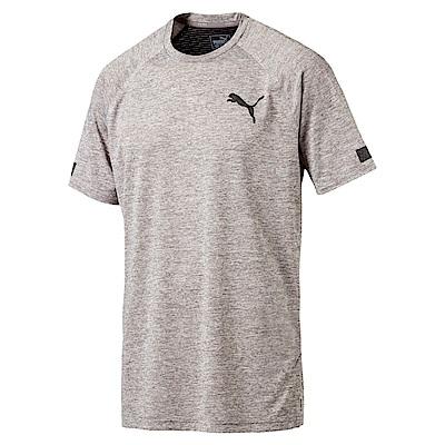 PUMA-男性訓練系列BND短袖T恤-海狸灰(麻花)-歐規