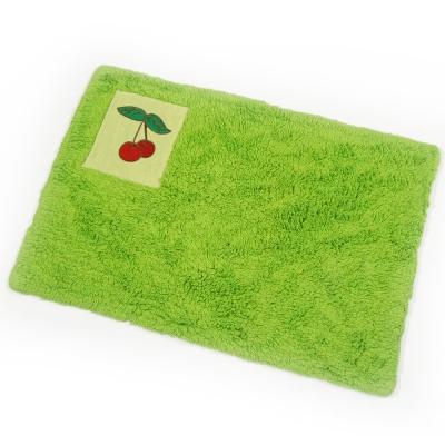 布安於室-刺繡純棉踏墊(超值2入組)-綠色