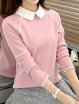 娃娃領針織毛衣
