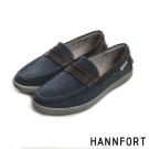 HANNFORT CARIBBEAN帆布氣墊樂福鞋-男-牛仔藍8H