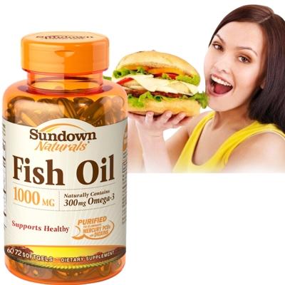 Sundown日落恩賜-高單位精純魚油-72粒-瓶