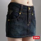 EDWIN 迷你俏皮 MISS BT503牛仔短裙-女款(原藍磨)