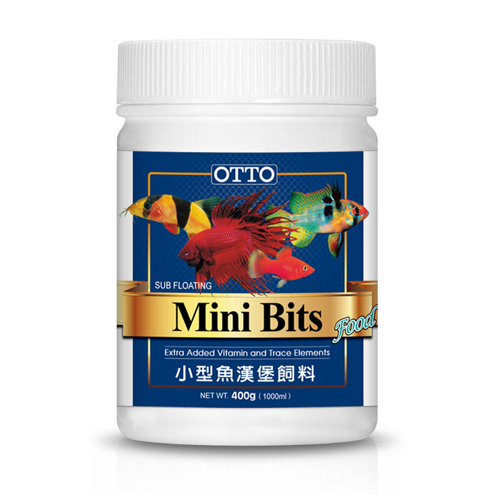 OTTO奧圖 小型魚漢堡顆粒飼料 400g X 2