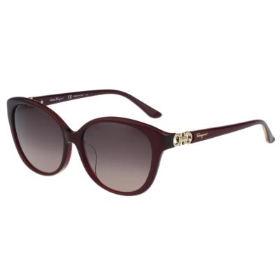 Salvatore Ferragamo- 時尚太陽眼鏡(紅色) @ Y!購物