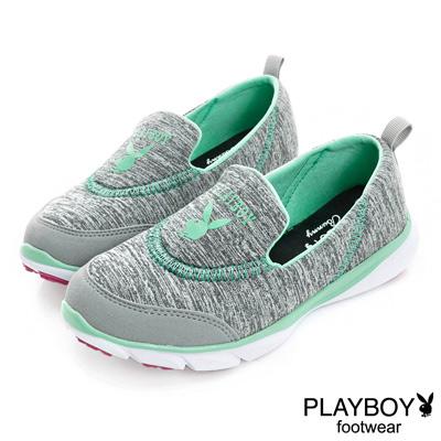 PLAYBOY 動感樣貌 簡約舒適輕量慢跑運動鞋-灰(女)
