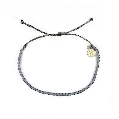 Pura Vida 美國手工 Seed Bead小彩珠系列 灰藍色系臘線衝浪手鍊手環